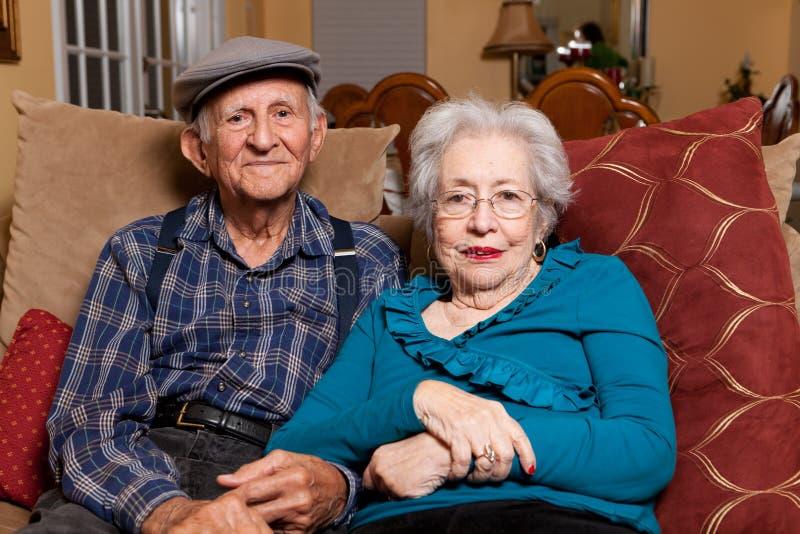 夫妇年长前辈 库存图片