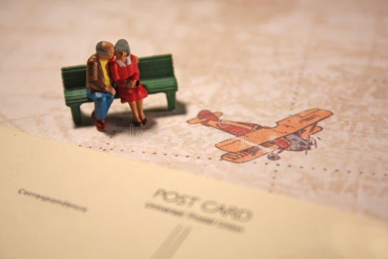 夫妇年长的人旅行 图库摄影