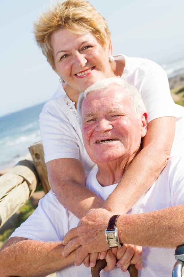 夫妇年长的人爱 图库摄影