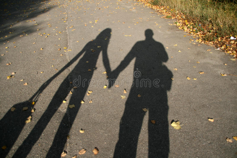 夫妇影子 免版税图库摄影