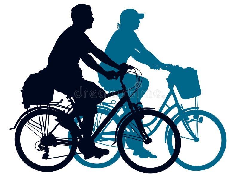 夫妇循环 向量例证