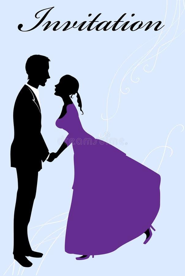 夫妇性感的年轻人 库存例证