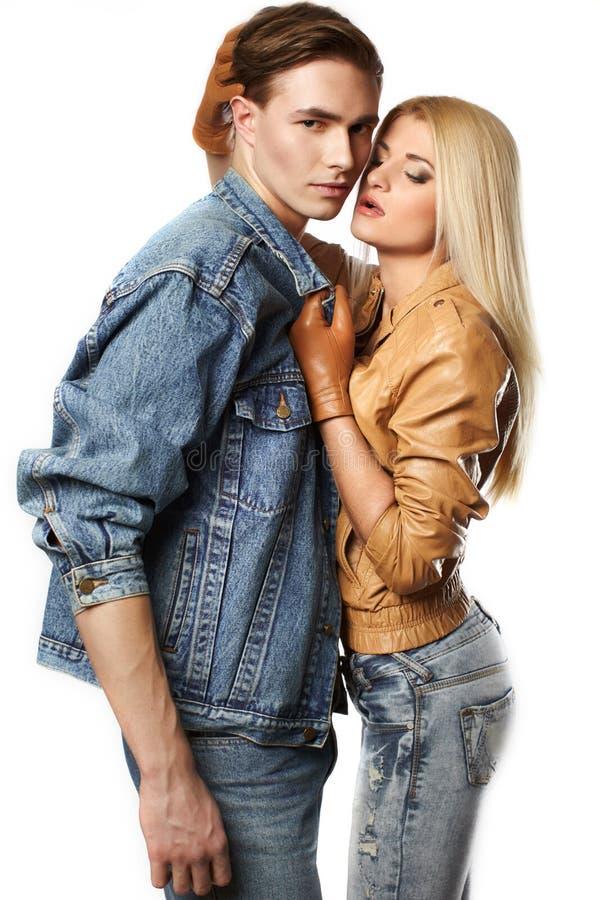 夫妇性感的年轻人 库存图片