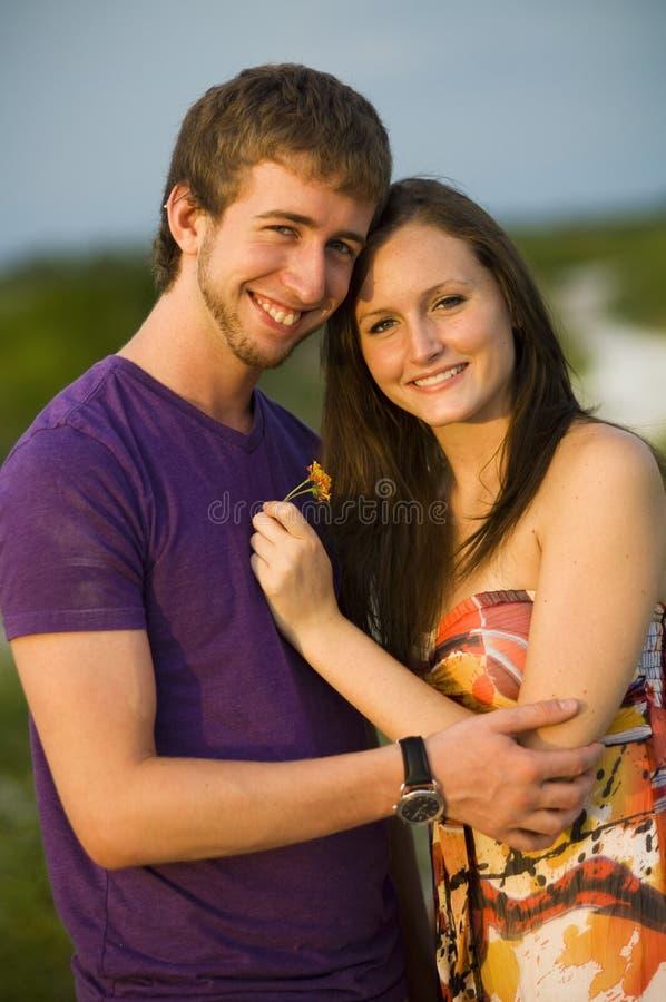 夫妇愉快少年 库存照片