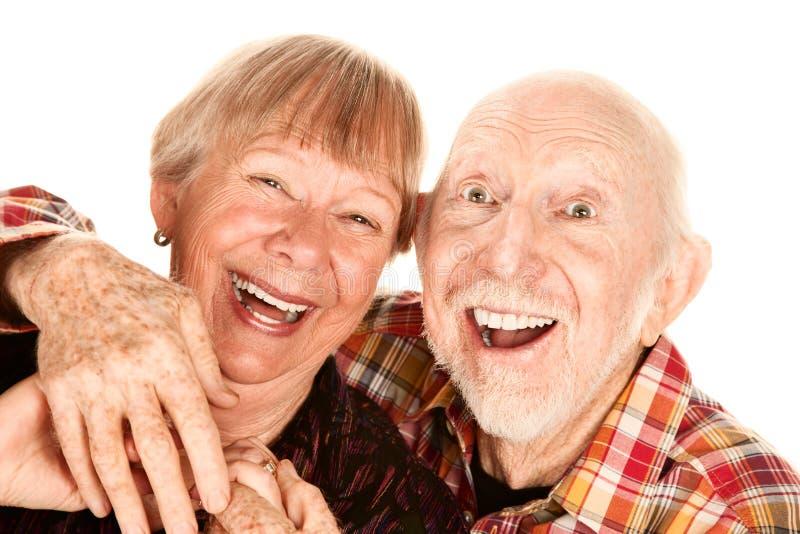 夫妇愉快的前辈 库存照片