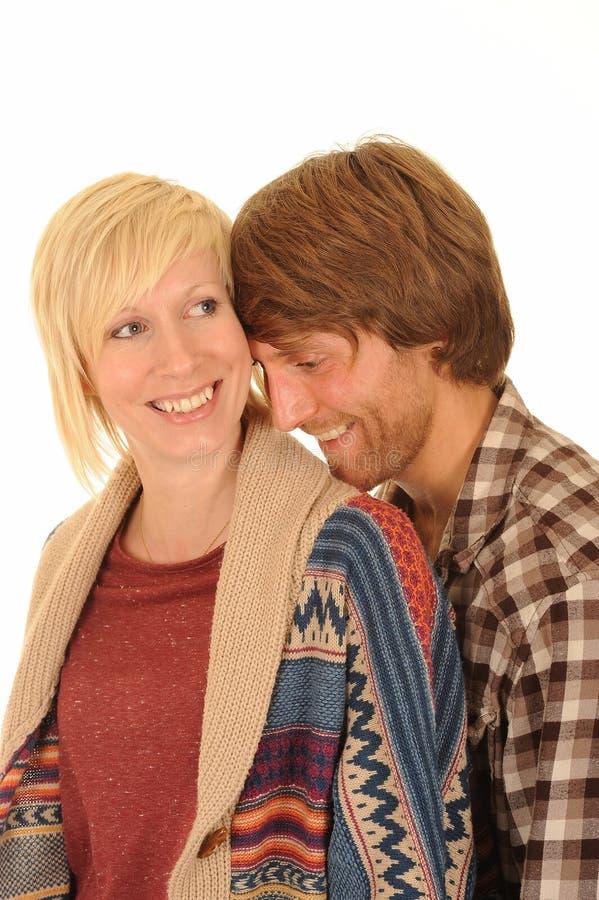 夫妇愉快的爱年轻人 免版税库存照片