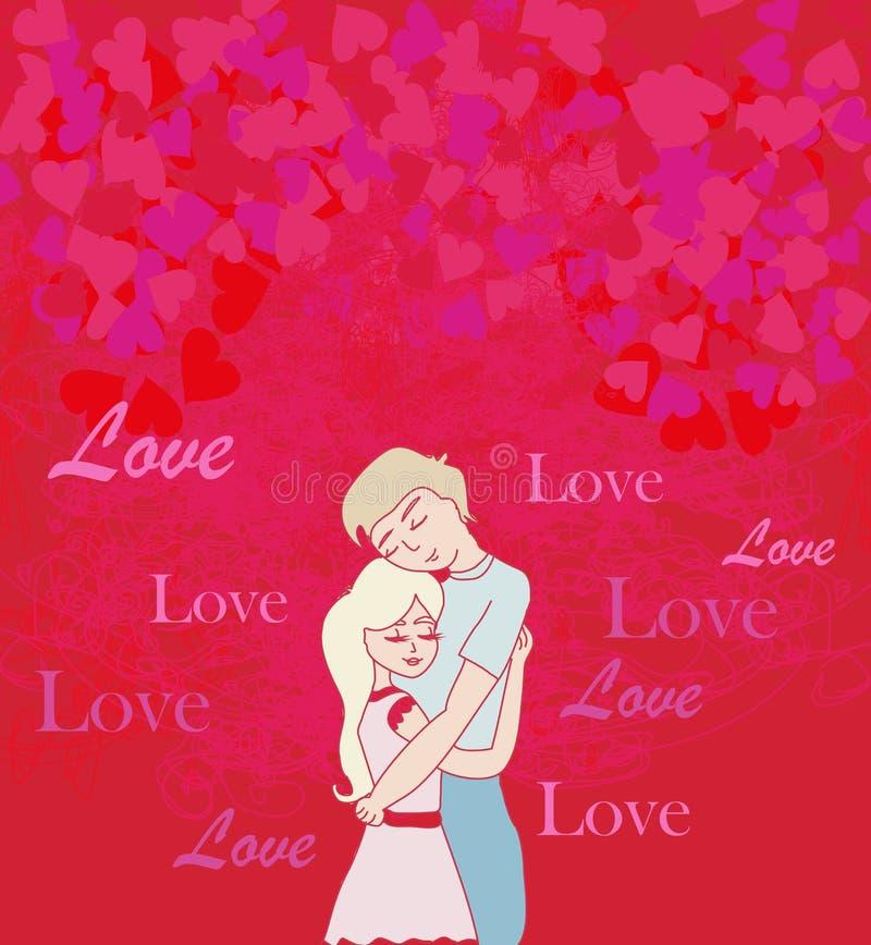 夫妇愉快的爱 向量例证