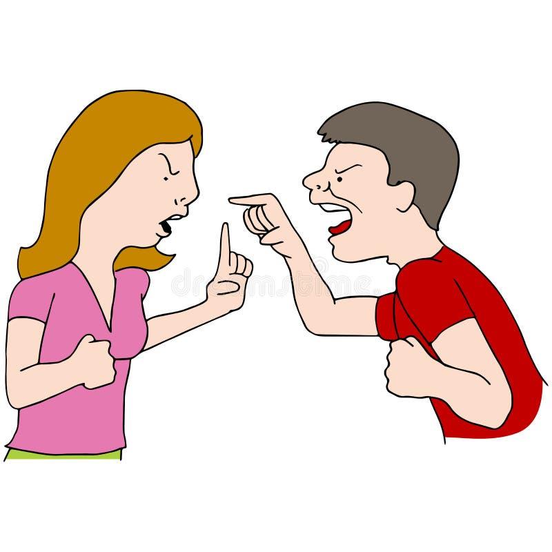 夫妇战斗 向量例证