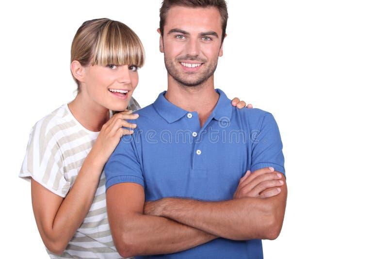 夫妇拥抱 库存照片