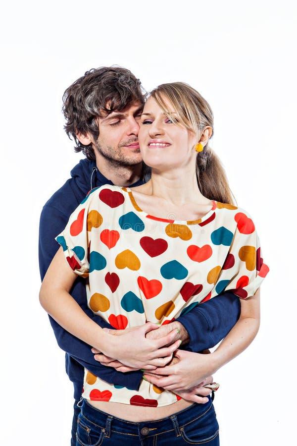 夫妇拥抱 免版税图库摄影