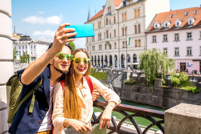 夫妇旅行的斯洛文尼亚 库存图片