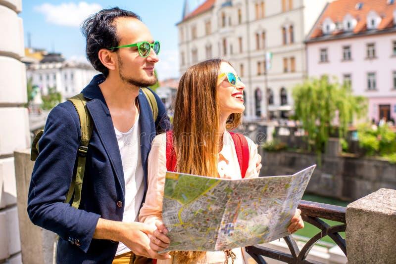 夫妇旅行的斯洛文尼亚 免版税图库摄影