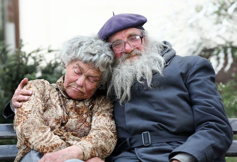 夫妇无家可归者 库存照片