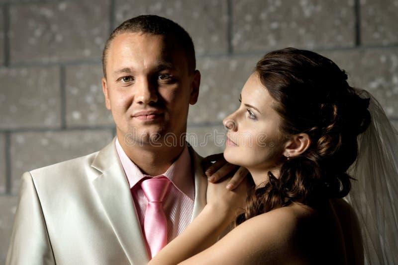 夫妇最近结婚了 免版税库存照片