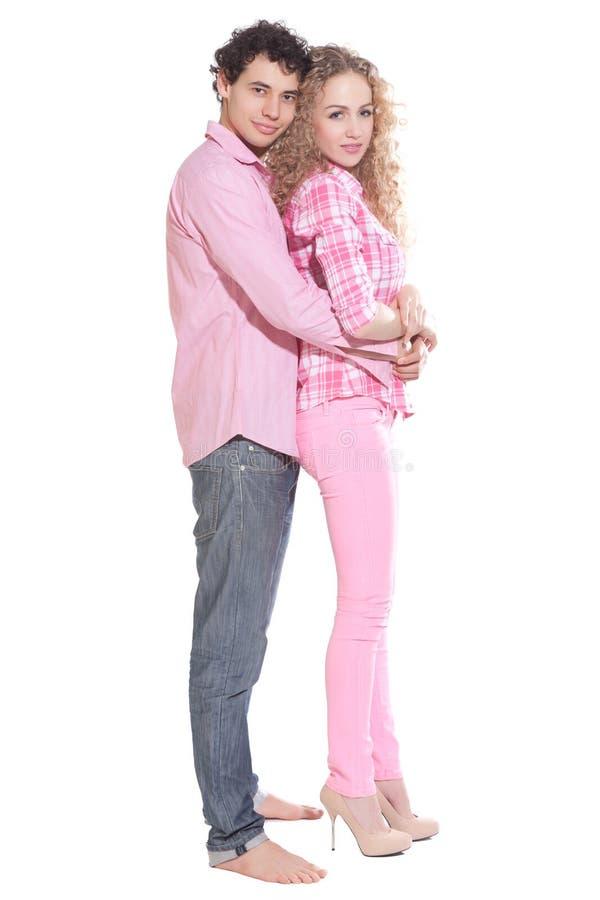 夫妇查出性感的白色 免版税图库摄影
