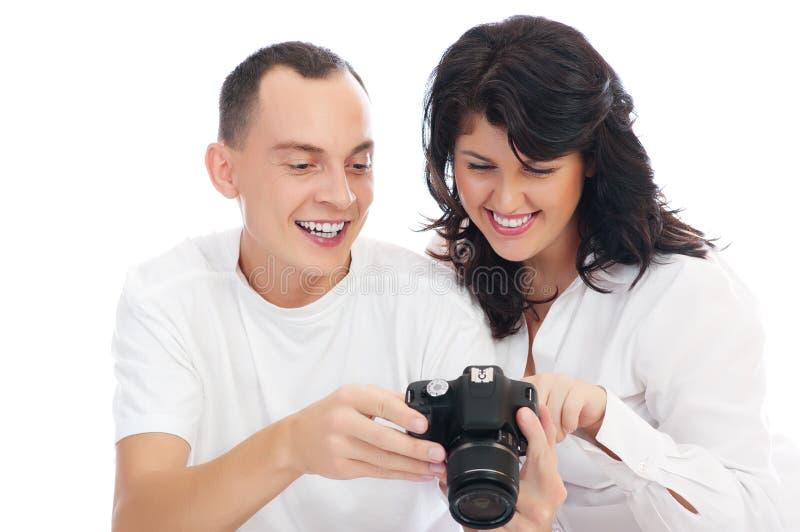 夫妇查找照片 库存图片
