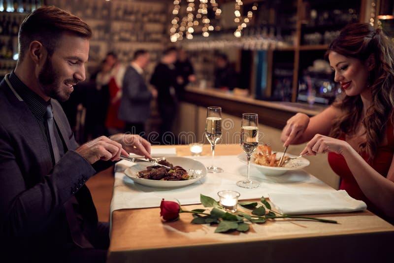 夫妇概念的晚餐 库存照片