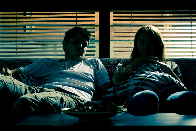 夫妇沙发 库存照片