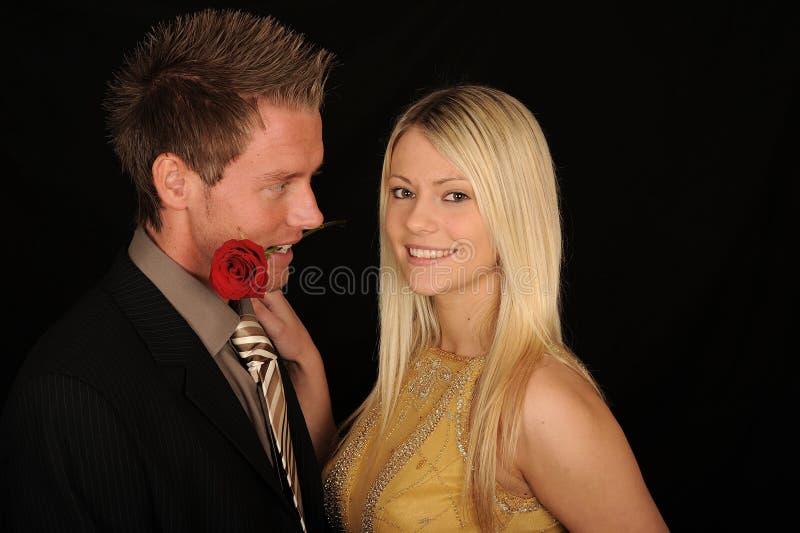 夫妇浪漫年轻人 库存照片
