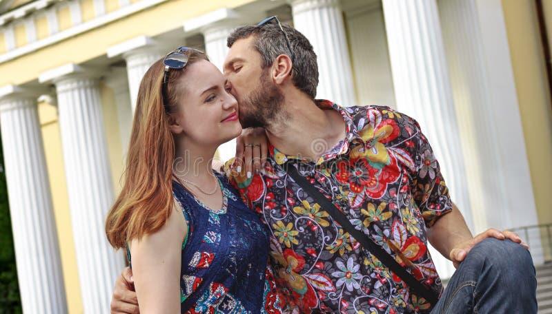 夫妇浪漫画象  免版税图库摄影