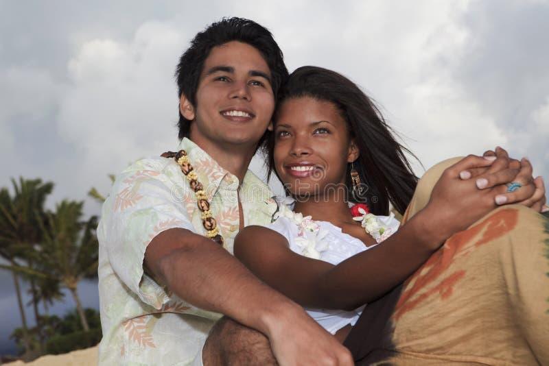 夫妇混杂的纵向年轻人 库存照片