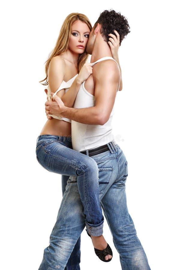 夫妇热情的照片 免版税库存照片