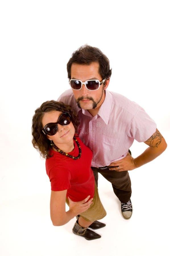 夫妇熟悉内情的大学年轻人 图库摄影