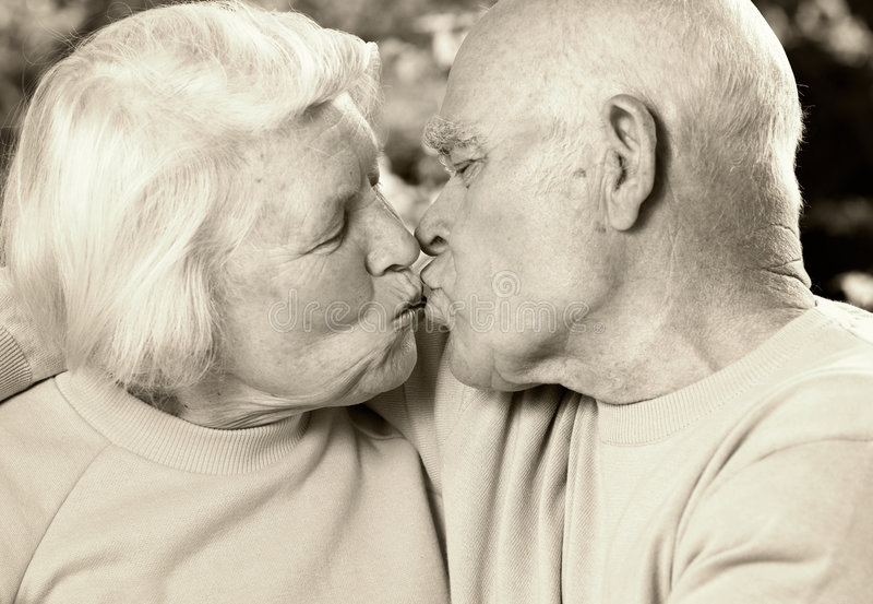 夫妇爱前辈 图库摄影