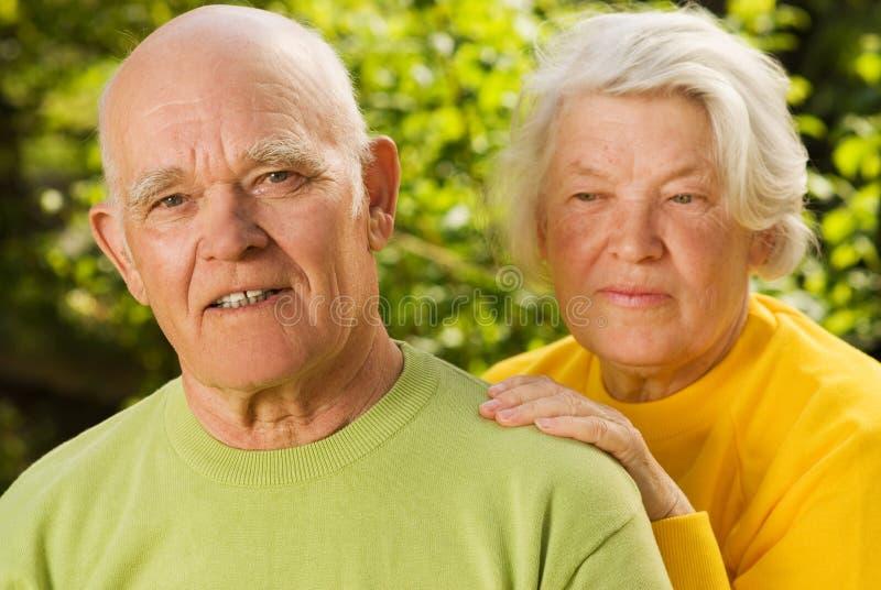 夫妇爱前辈 库存照片