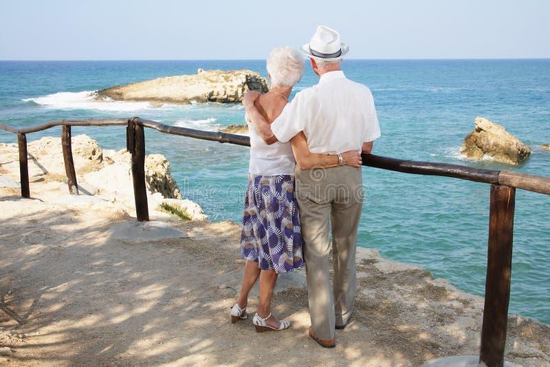 夫妇爱前辈 免版税库存图片