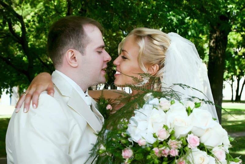 夫妇爱婚礼 免版税图库摄影