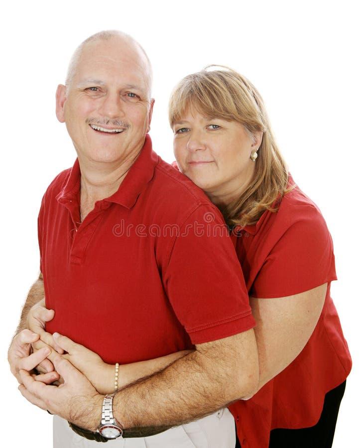 夫妇爱成熟 库存图片