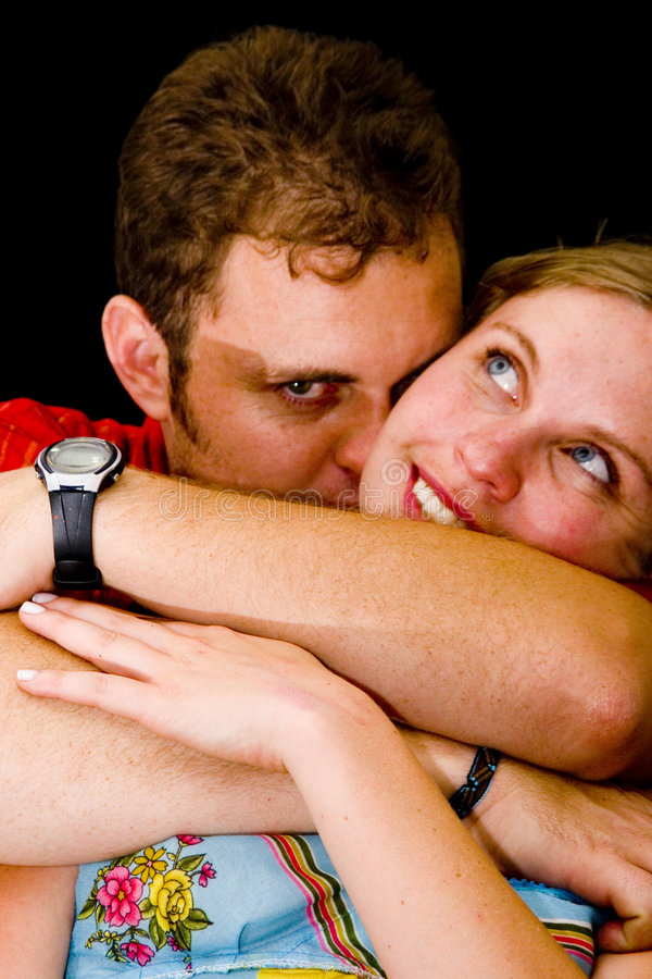 夫妇爱照片 免版税库存图片