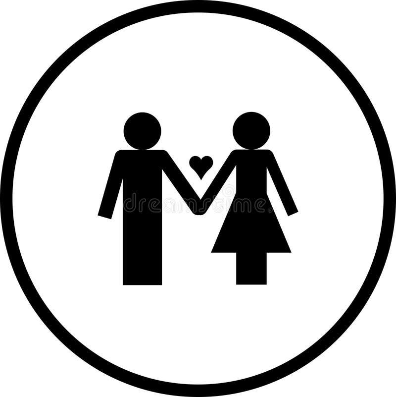 夫妇爱符号 皇族释放例证