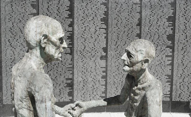 夫妇犹太老雕塑 库存照片