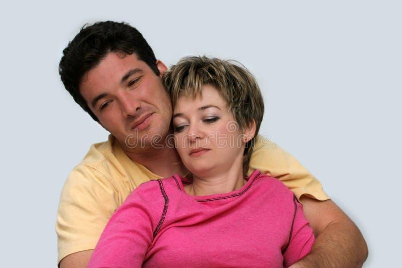 夫妇甜年轻人 免版税库存照片