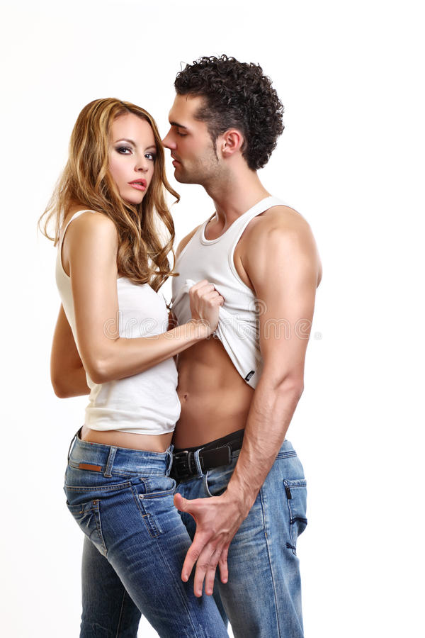 夫妇生动描述性感 免版税图库摄影