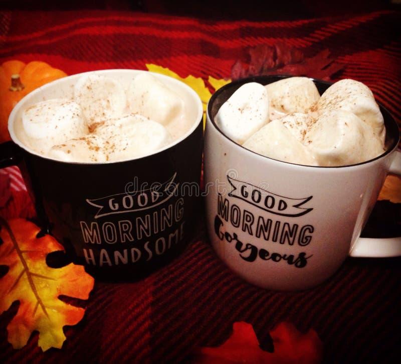 夫妇目标咖啡 图库摄影