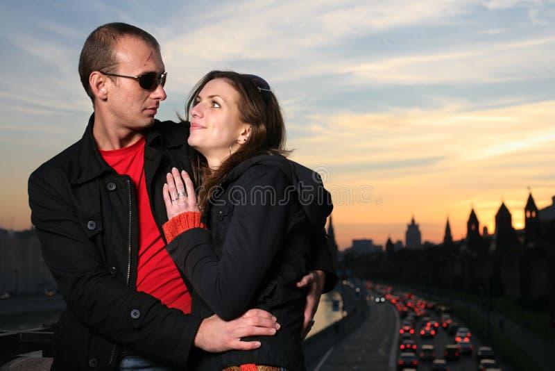 夫妇约会 免版税库存照片