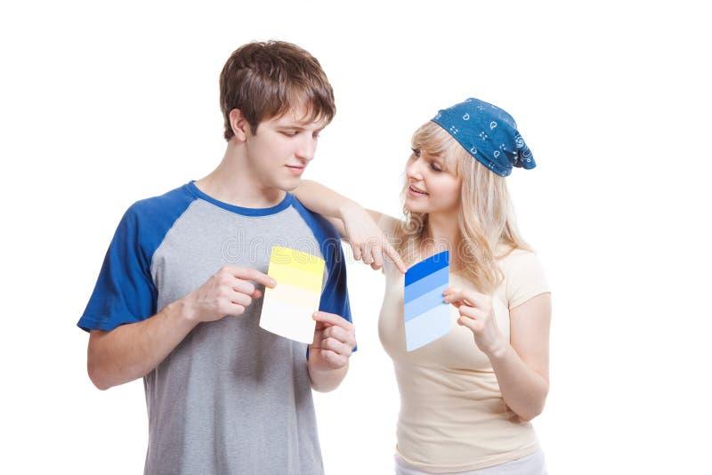 夫妇绘画 免版税库存照片