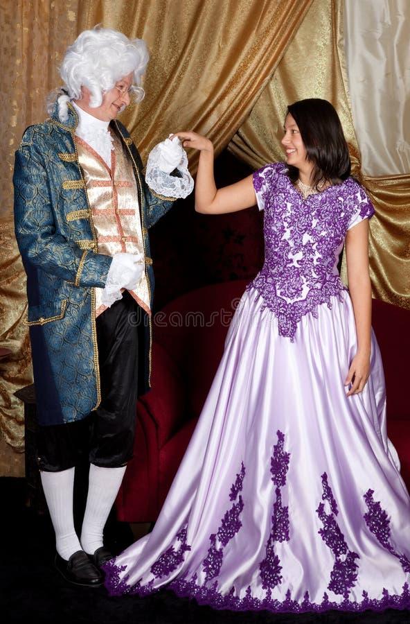 夫妇维多利亚女王时代的著名人物 图库摄影