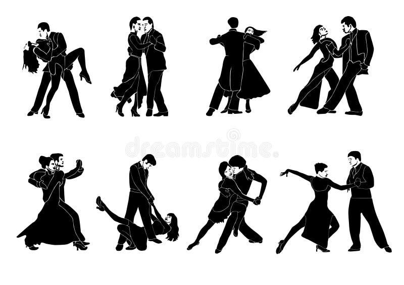 夫妇舞蹈 库存例证