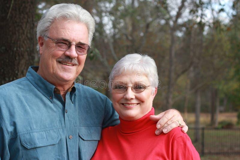 夫妇英俊更老 免版税库存图片