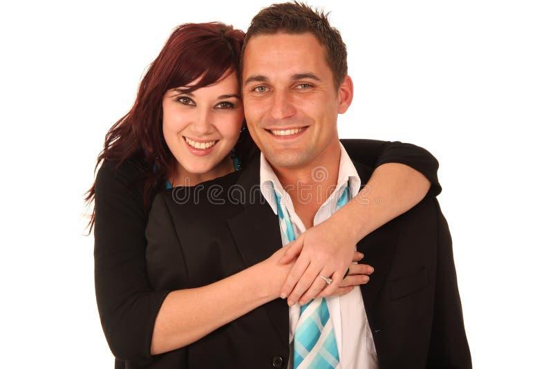 夫妇英俊的年轻人 免版税库存照片