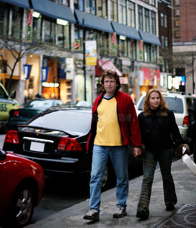 夫妇街道 免版税库存图片
