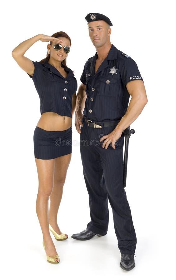 夫妇警察 免版税库存图片