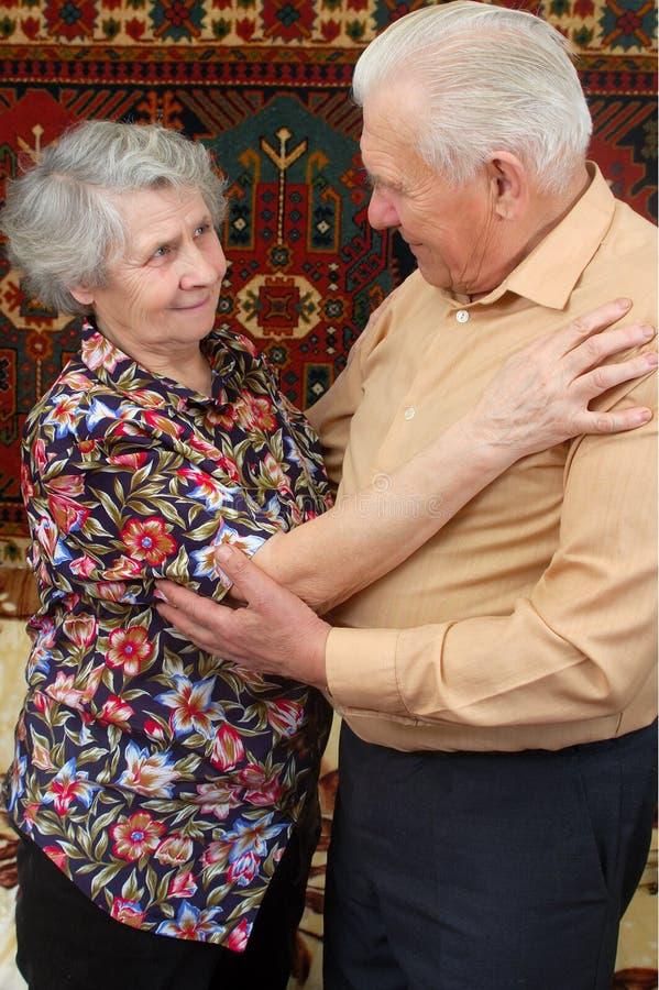 夫妇跳舞前辈 库存照片