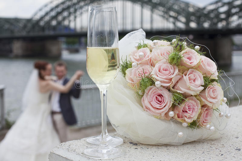 夫妇跳舞婚礼 免版税库存图片
