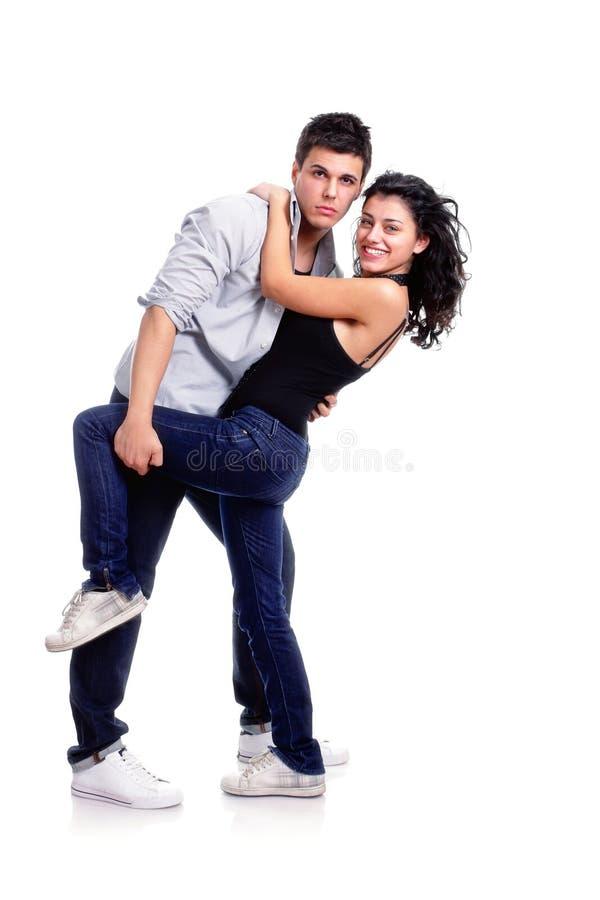 夫妇跳舞年轻人 免版税库存图片