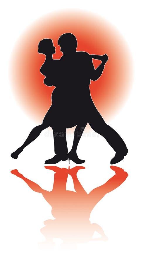 夫妇跳舞探戈/eps 库存例证